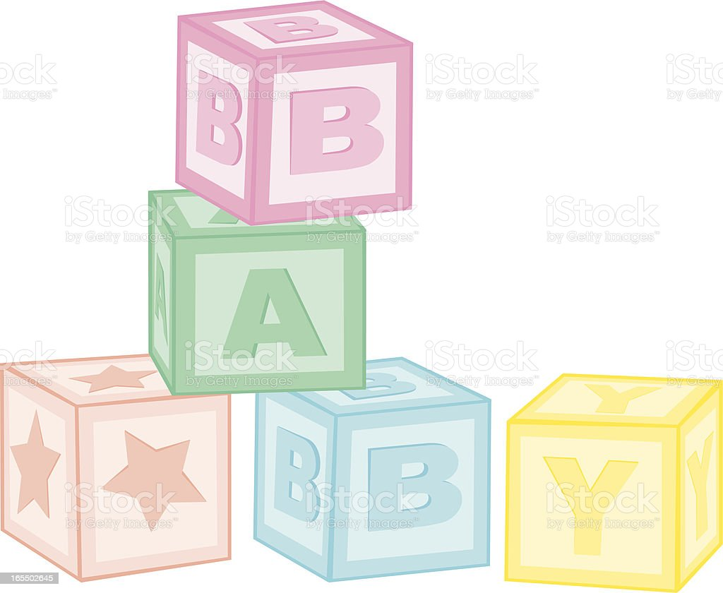 Baby Blocks vector art illustration