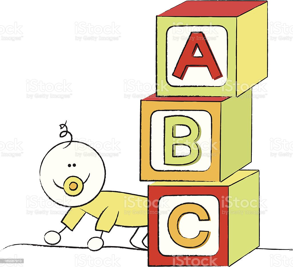 Baby Blocks royalty-free stock vector art