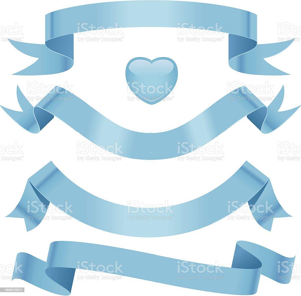 Baby Blue Ribbons vector art illustration