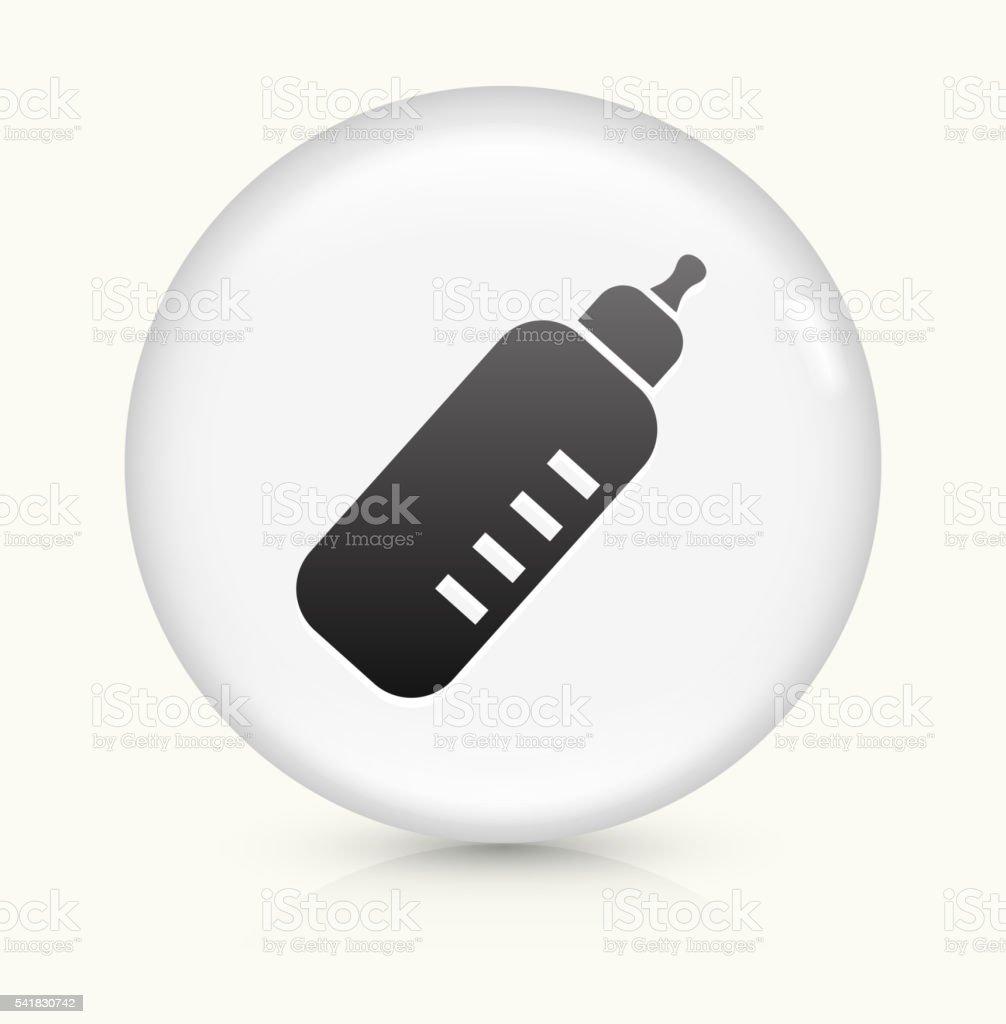 Baby Bottle icon on white round vector button vector art illustration