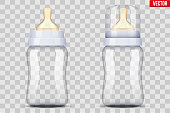 Baby bottles with nipple pacifier