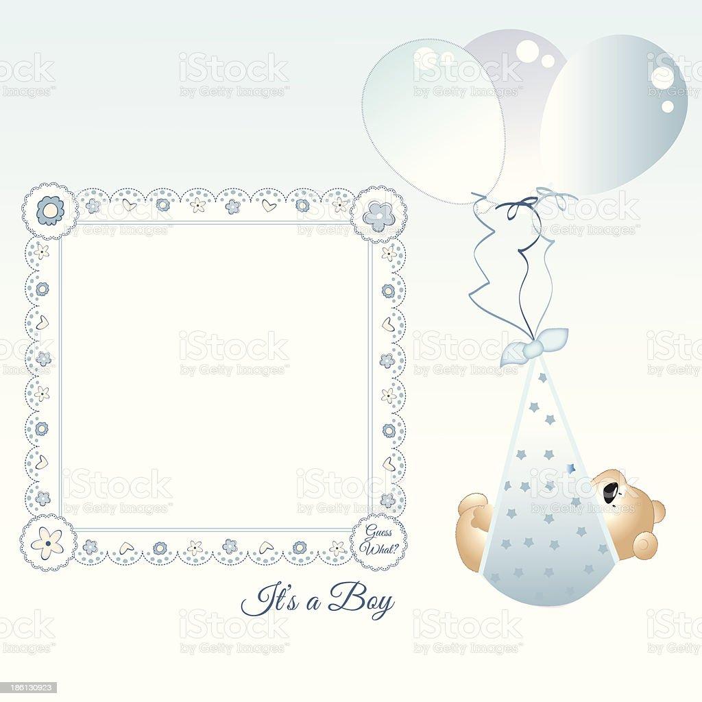Baby boy announcement royalty-free stock vector art