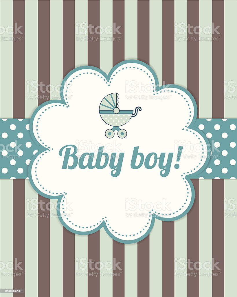 Baby boy arrival card royalty-free stock vector art