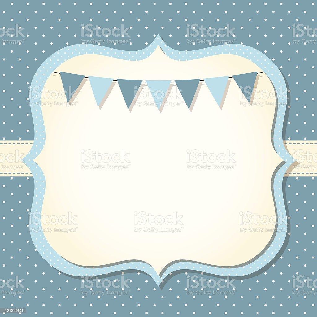 Baby boy arrival or shower card vector art illustration