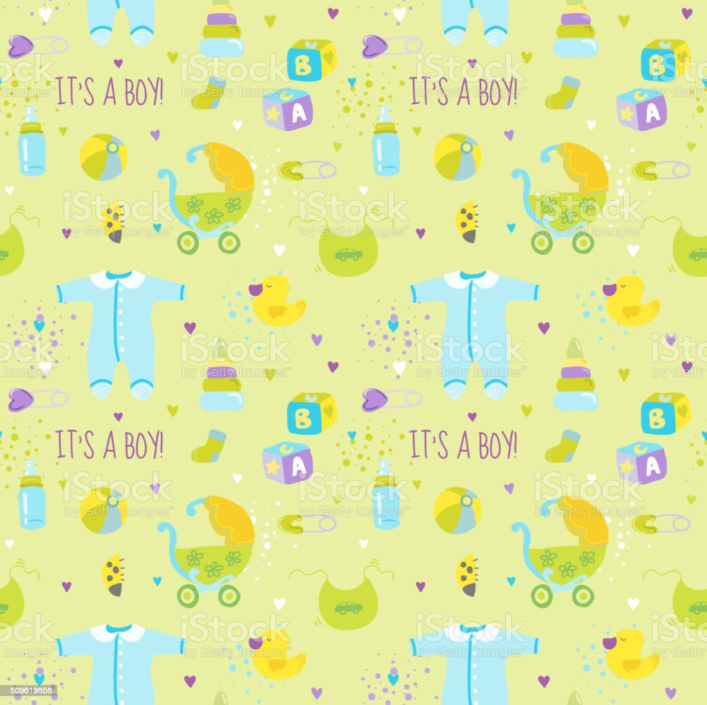 Baby boy background wallpaper baby boy background images baby boy - Baby Boy Background Seamless Pattern For Design Or Scrapbook Royalty Free Stock Vector Art