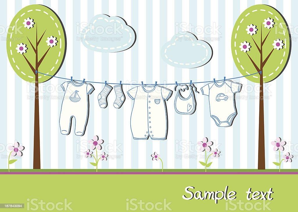 Baby boy card royalty-free stock vector art