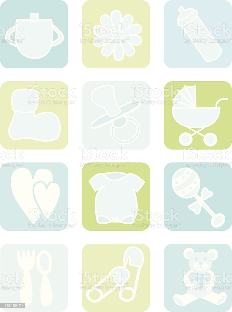 Baby Boy Icons royalty-free stock vector art