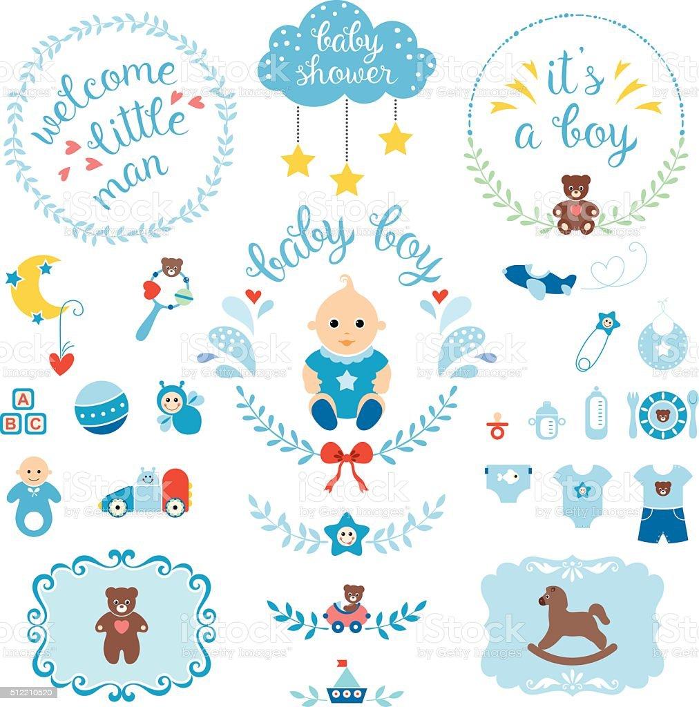Baby Boy Set vector art illustration