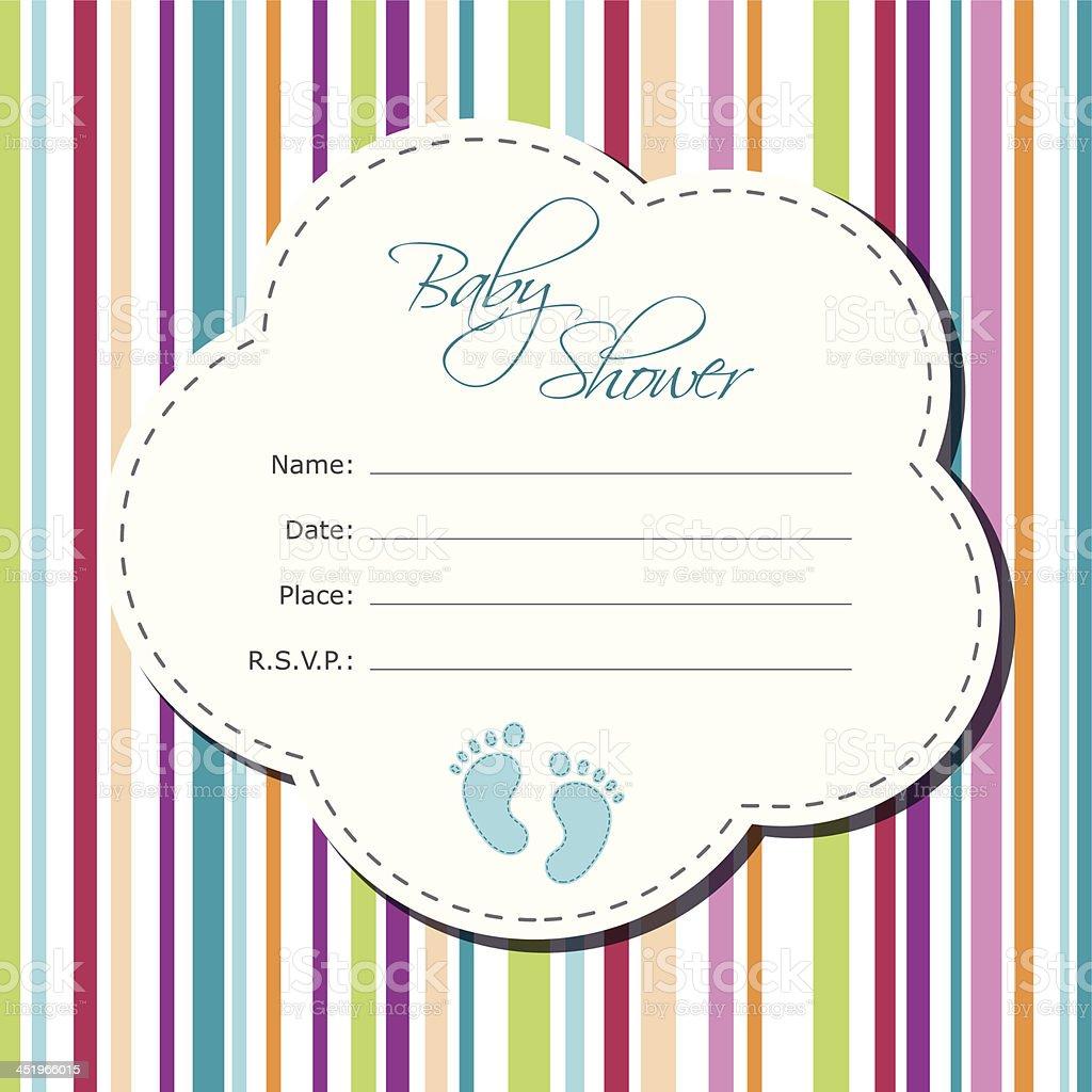 Baby boy shower card royalty-free stock vector art