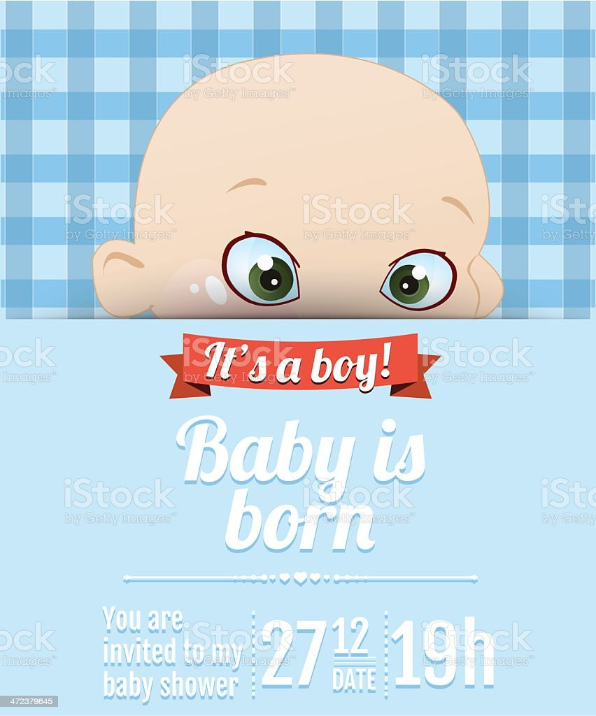 Carte de douche bébé garçon stock vecteur libres de droits libre de droits