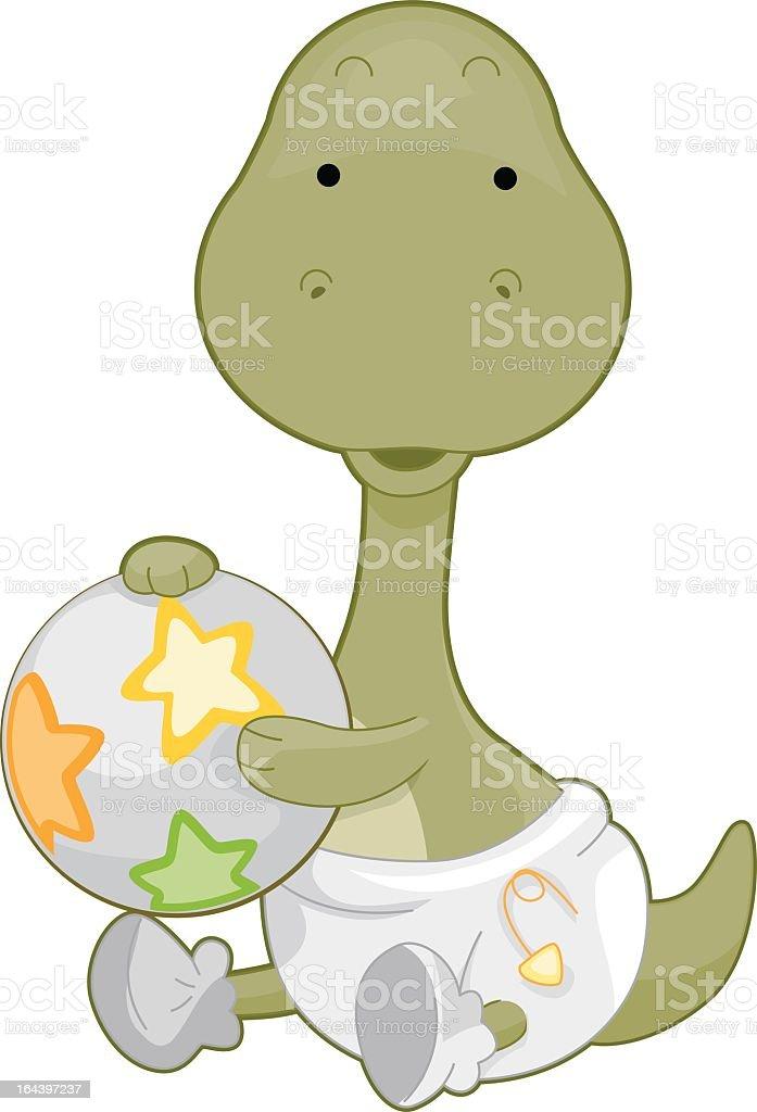 Baby Brontosaurus royalty-free stock vector art