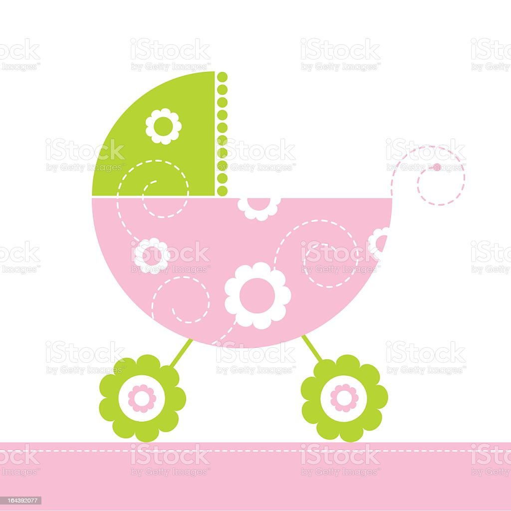 Baby buggy royalty-free stock vector art