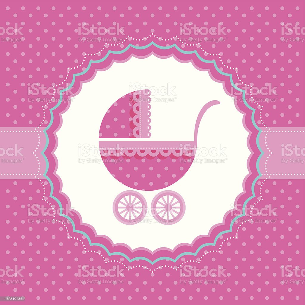 Baby buggy. Vector illustration. royalty-free stock vector art
