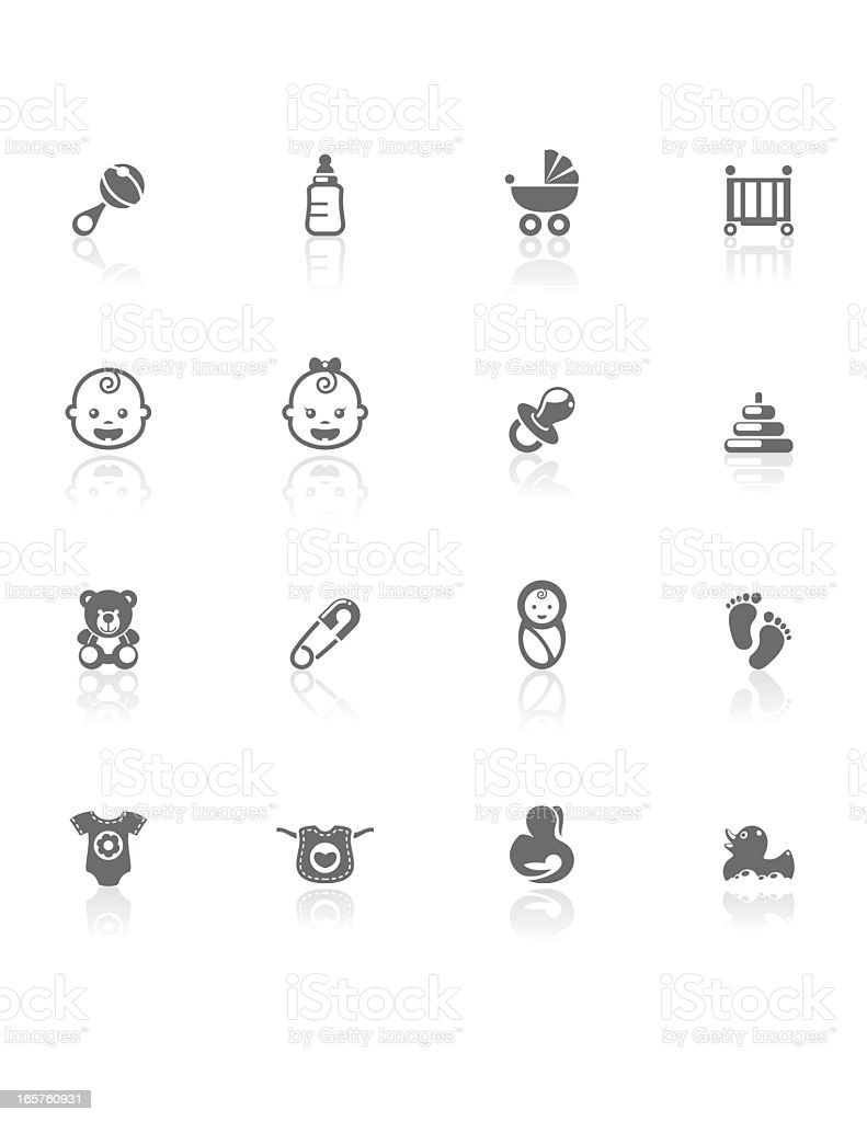 Baby | BW Icons royalty-free stock vector art