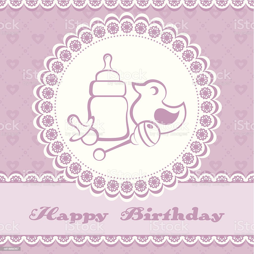 Baby card vector art illustration