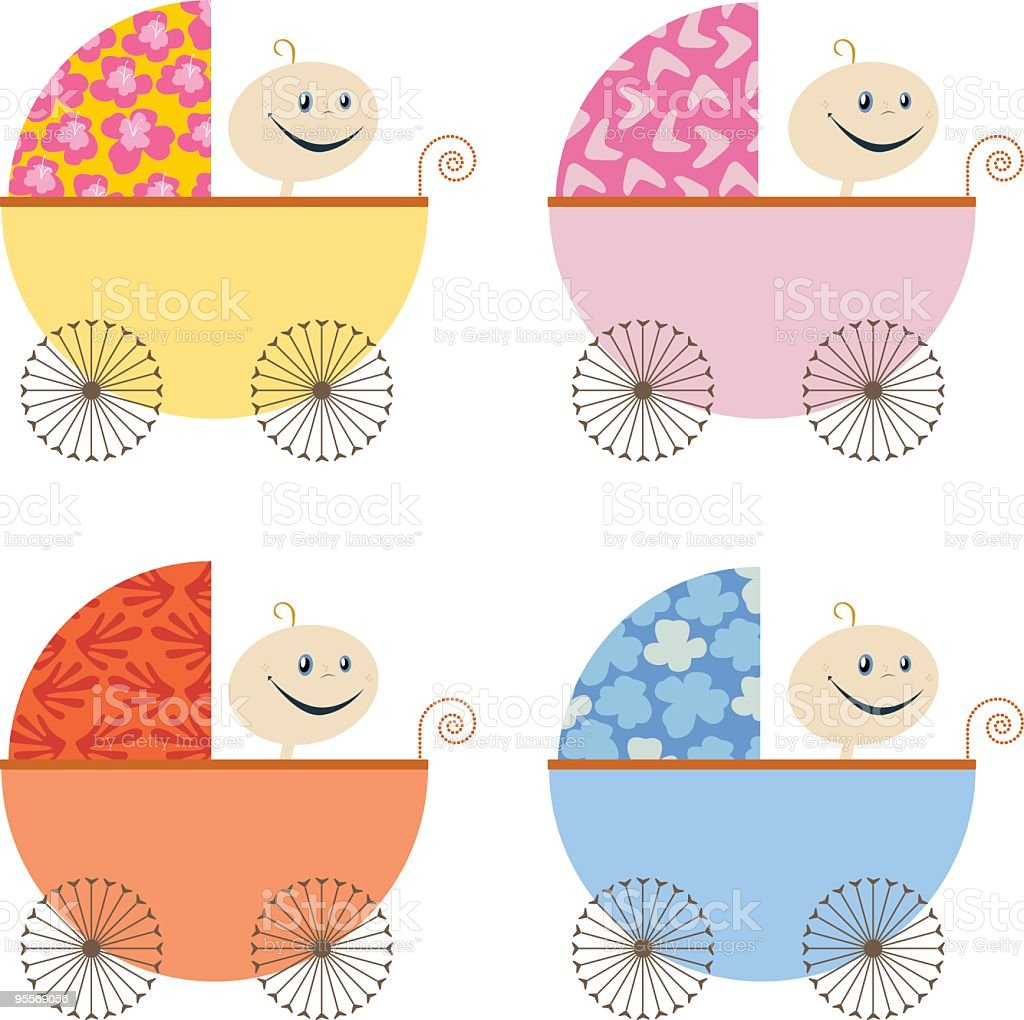 Baby Carriage royalty-free stock vector art