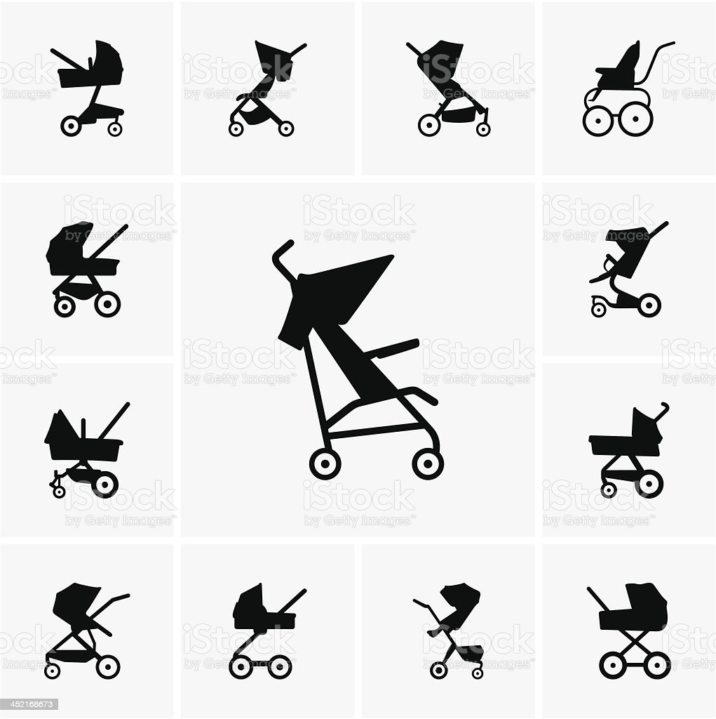 Baby Carriages vector art illustration
