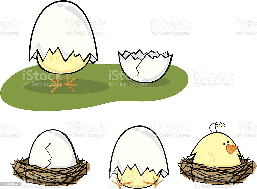 Baby Chick set 2 royalty-free stock vector art