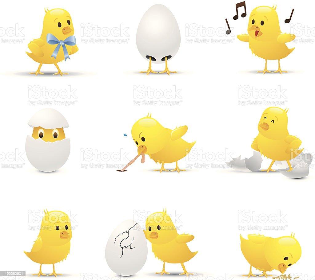 Baby Chicks vector art illustration