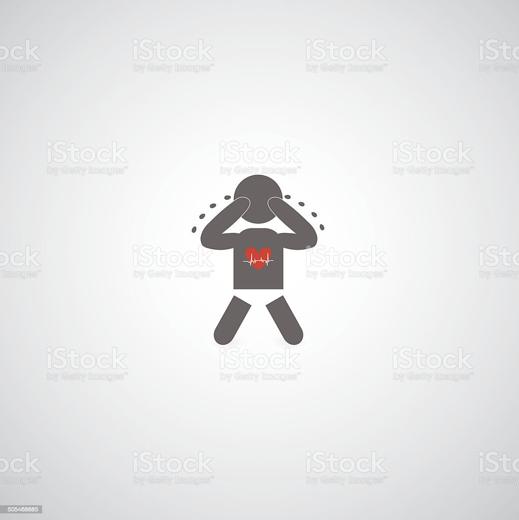 baby cry symbol vector art illustration