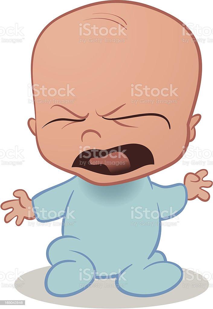 Baby Crying royalty-free stock vector art