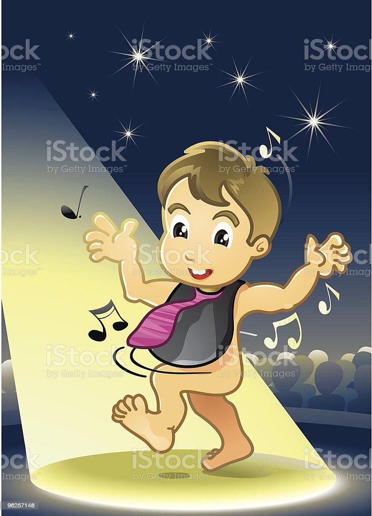 Baby Dancing vector art illustration