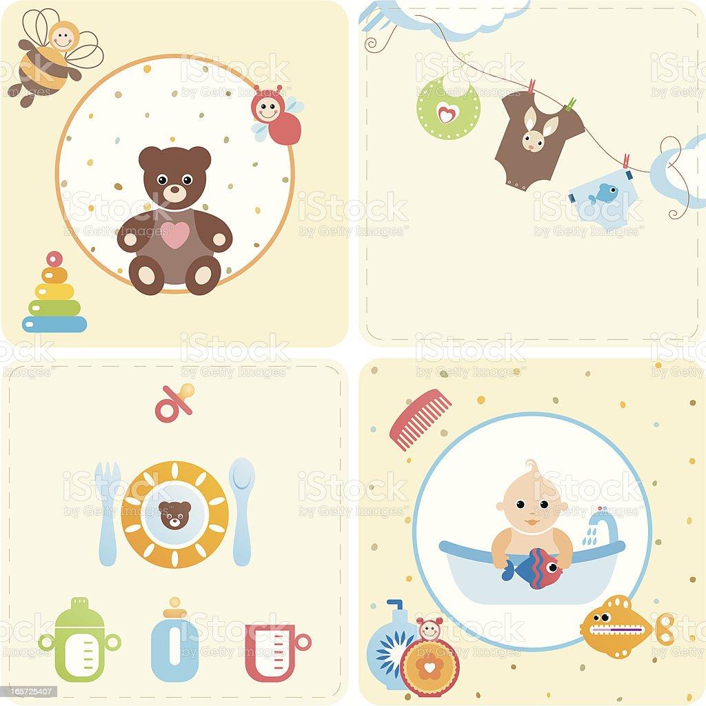 Baby Design Set vector art illustration