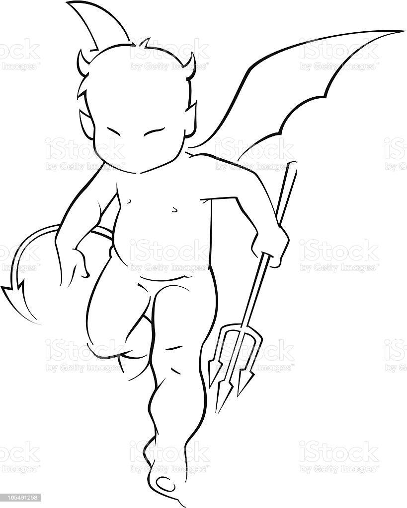 Baby Devil royalty-free stock vector art
