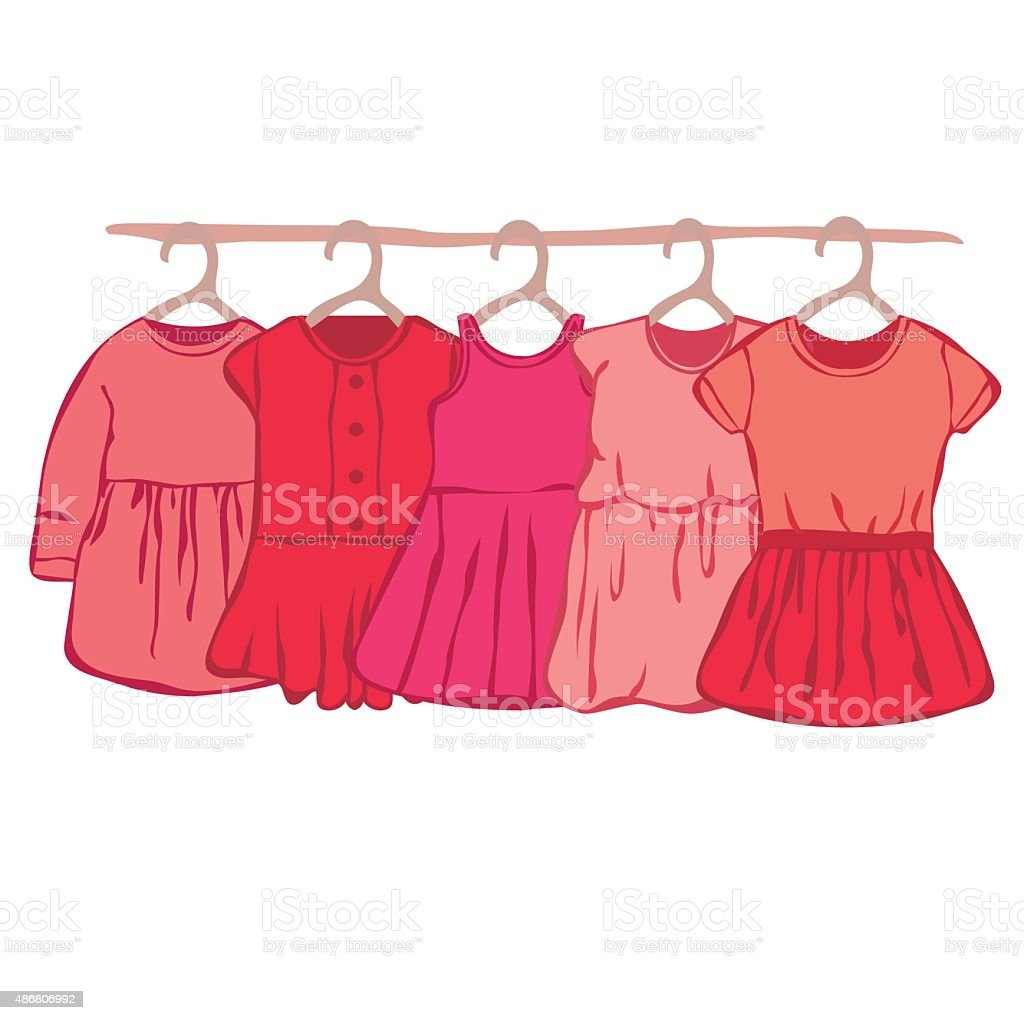 Baby dress vector art illustration