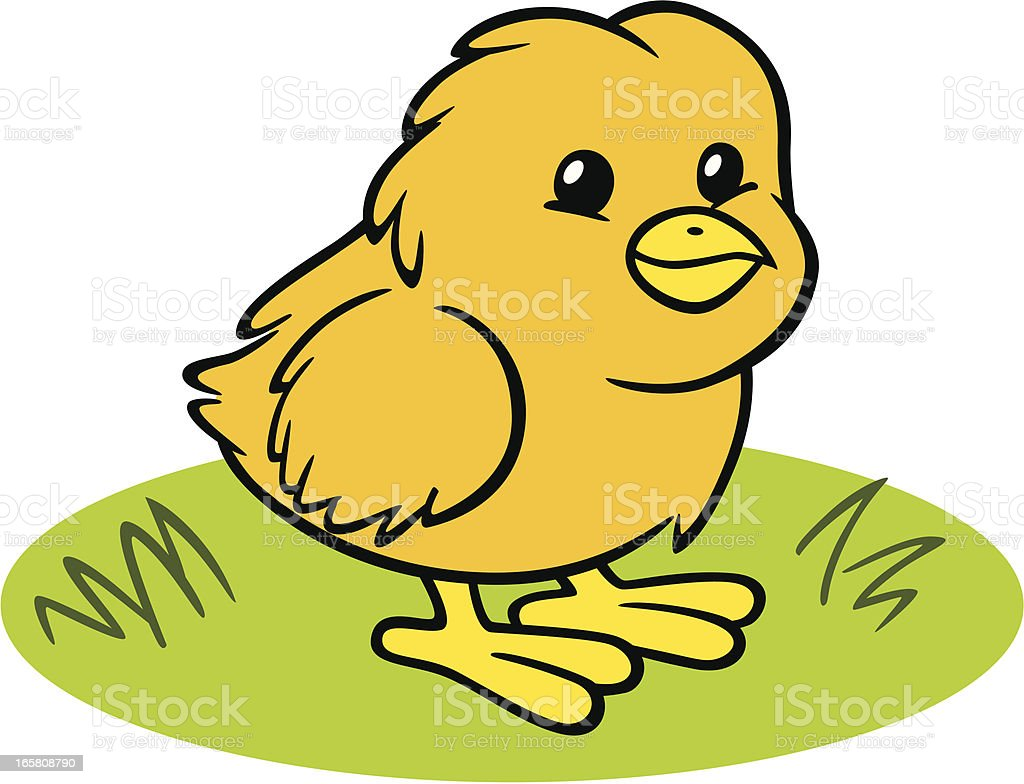 Baby Easter Chick vector art illustration