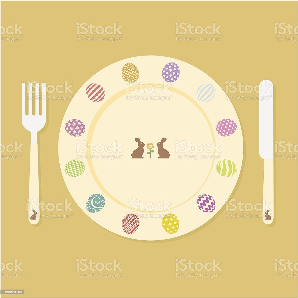 Baby easter food. vector art illustration