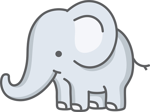 Elephant Clip Art, Vector Images & Illustrations - iStock