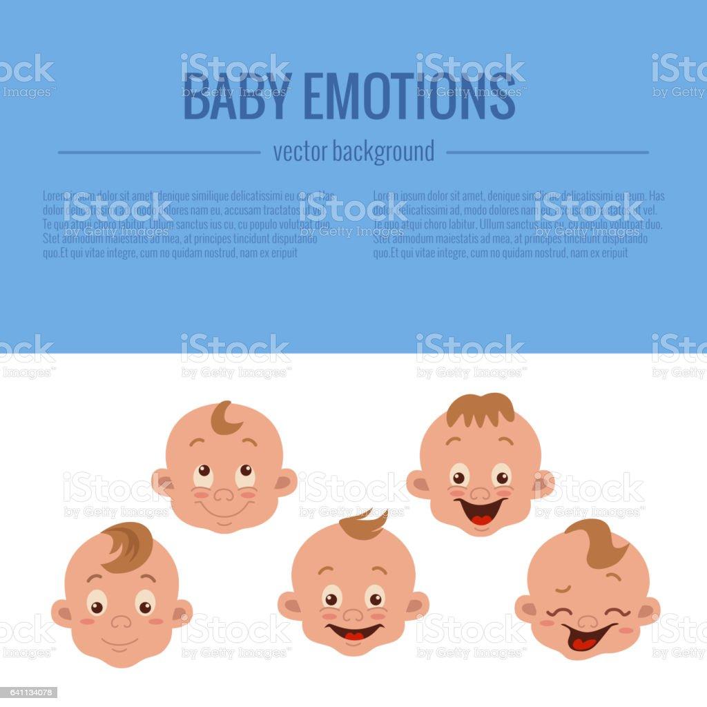 Baby facial expression vector art illustration