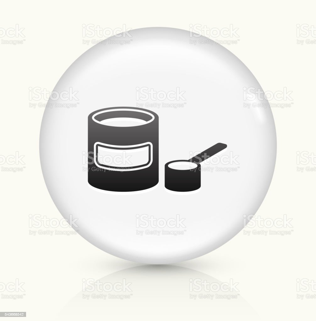 Baby Formula icon on white round vector button vector art illustration