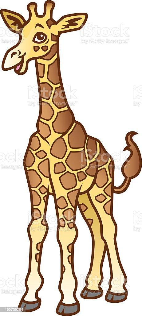 Baby Giraffe vector art illustration
