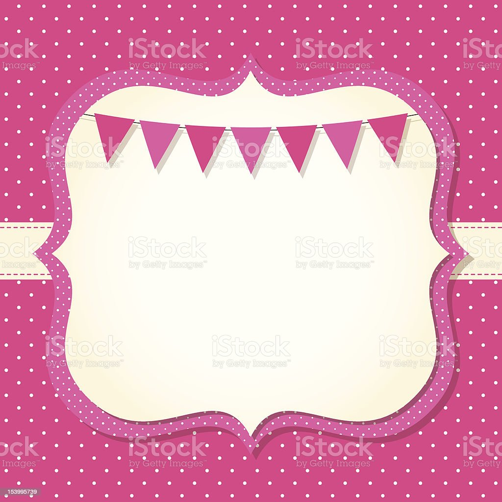 Baby girl arrival or shower card royalty-free stock vector art