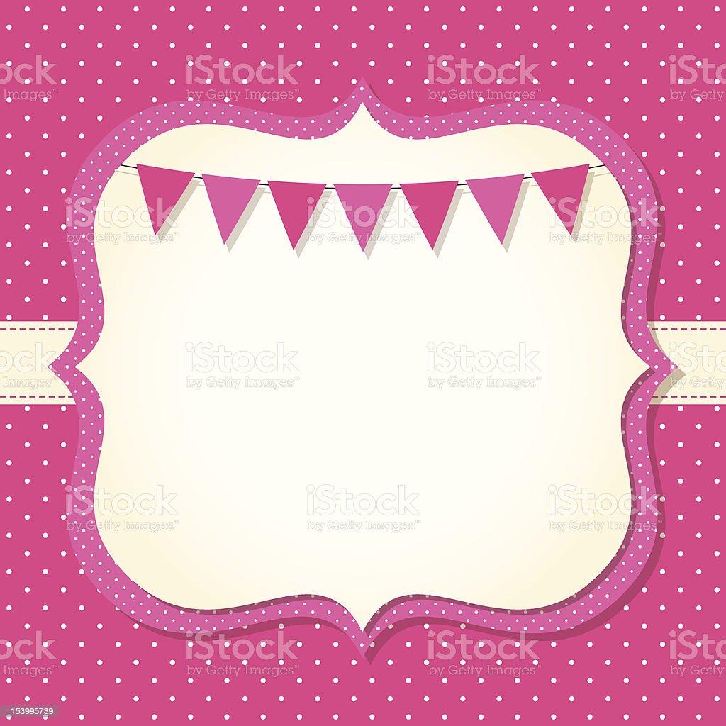 Baby girl arrival or shower card vector art illustration