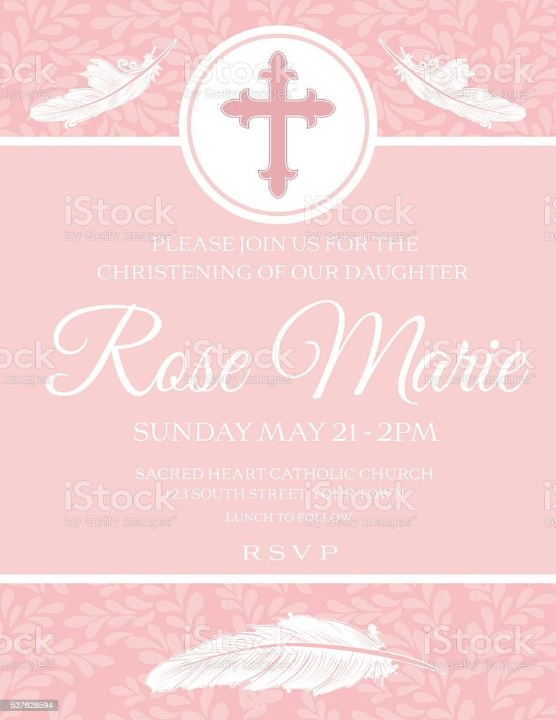 Top Result 60 Best Of Baby Girl Baptism Invitation Free Templates ...