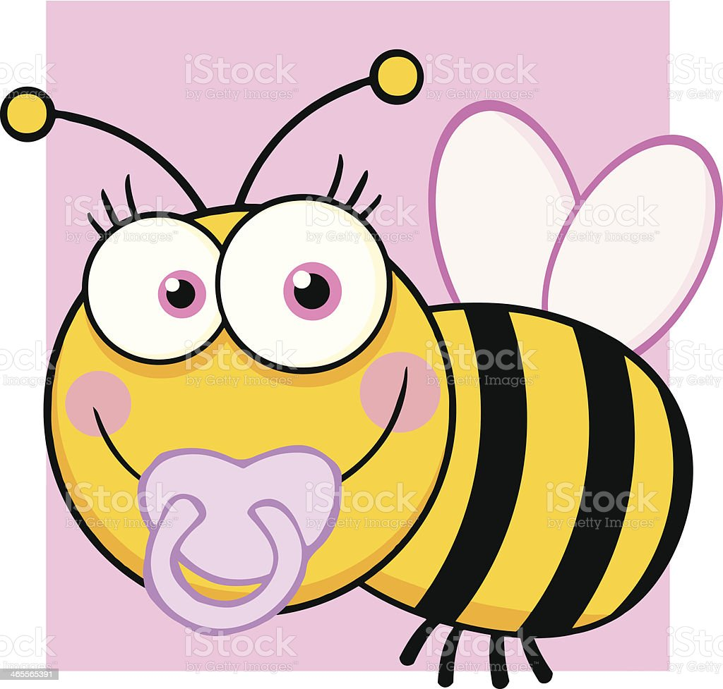 Baby Girl Bee With Background royalty-free stock vector art