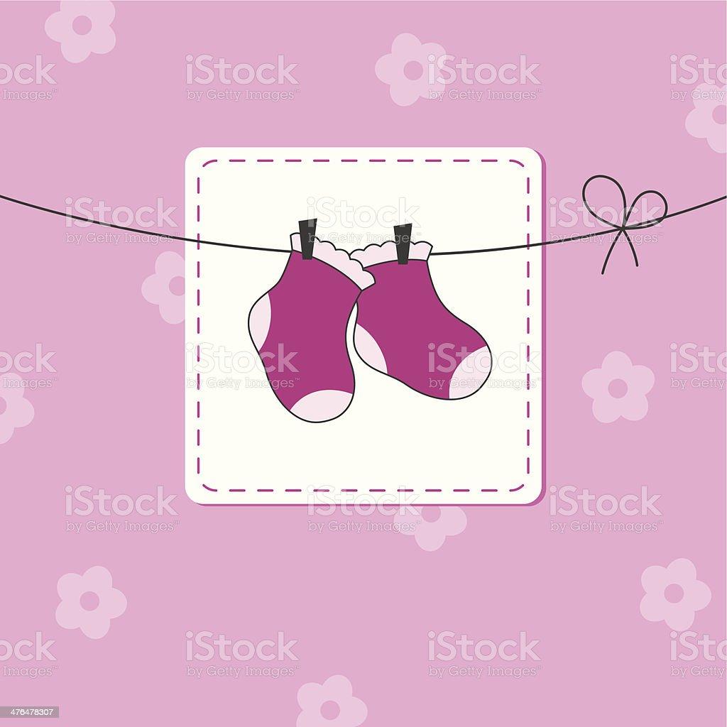 Baby girl card royalty-free stock vector art