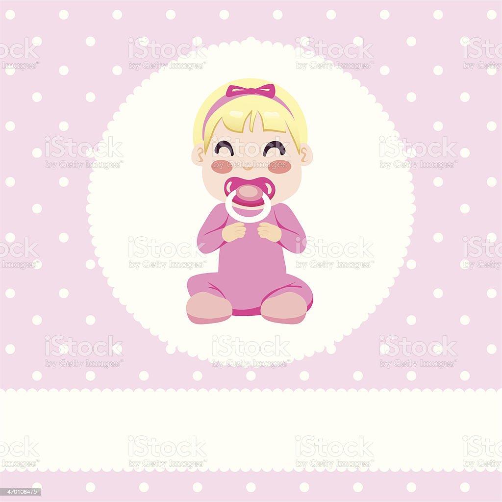 Baby Girl Design vector art illustration