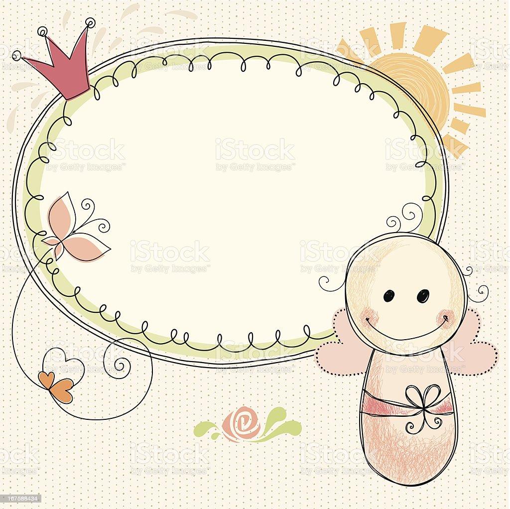 Baby Girl Frame royalty-free stock vector art