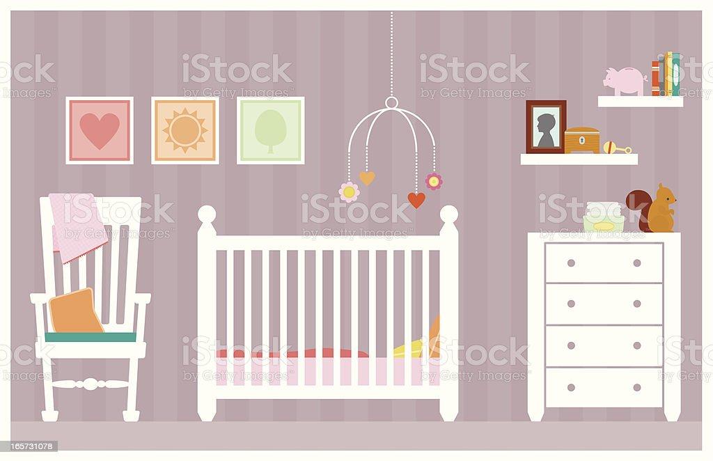 Baby Girl Room vector art illustration