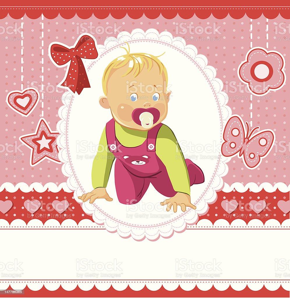 Baby girl royalty-free stock vector art