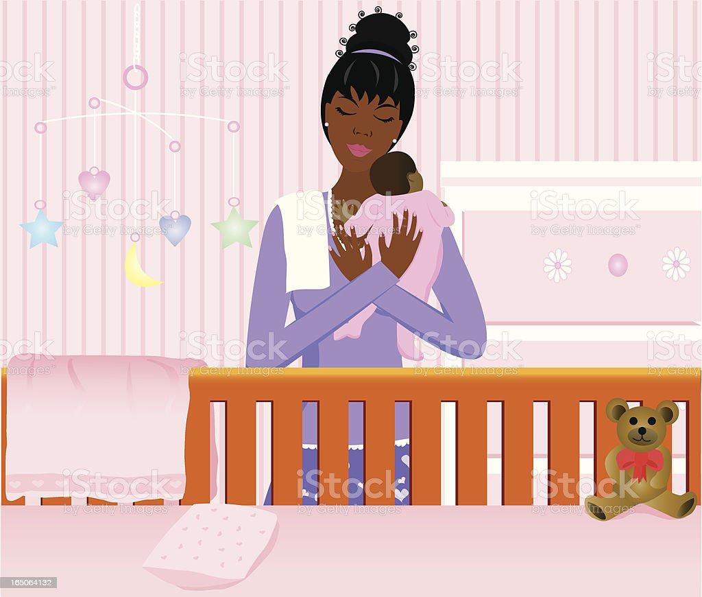 Baby Girl vector art illustration