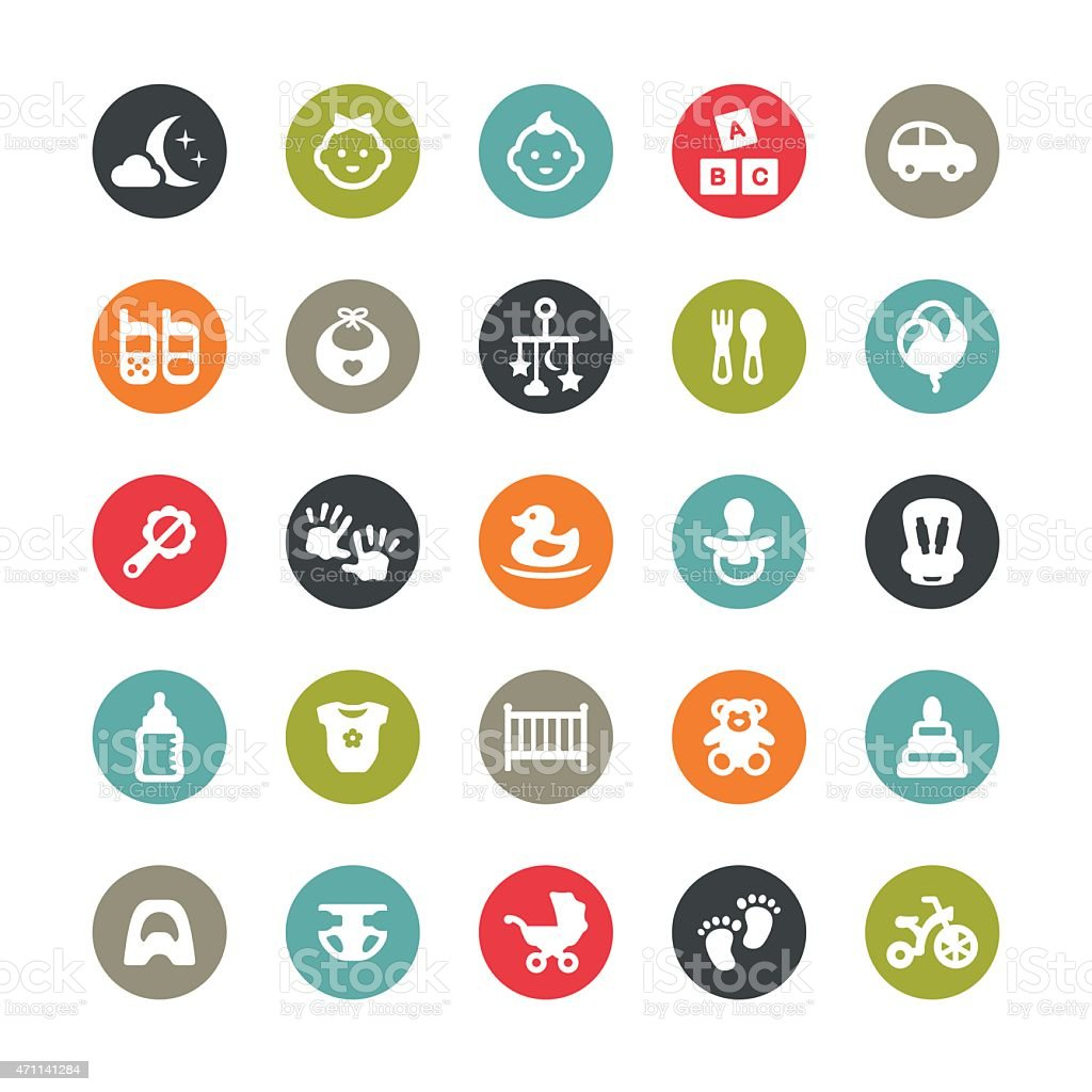 Baby Goods related vector icons / Ringico series vector art illustration