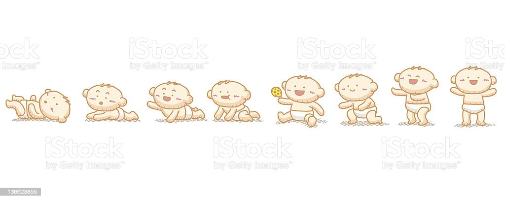 Baby grow up royalty-free stock photo