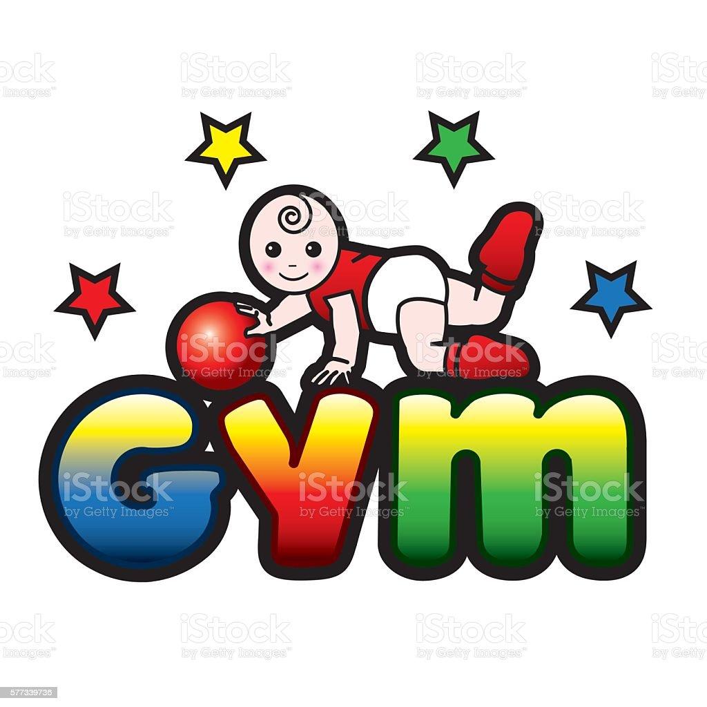 Baby gym vector art illustration