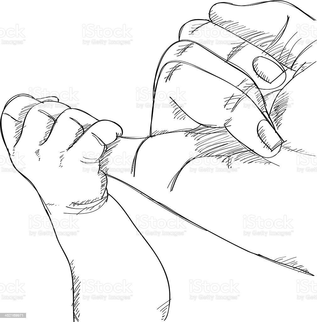 Baby Hand Holding Mother Finger Vector Illustration stock ...