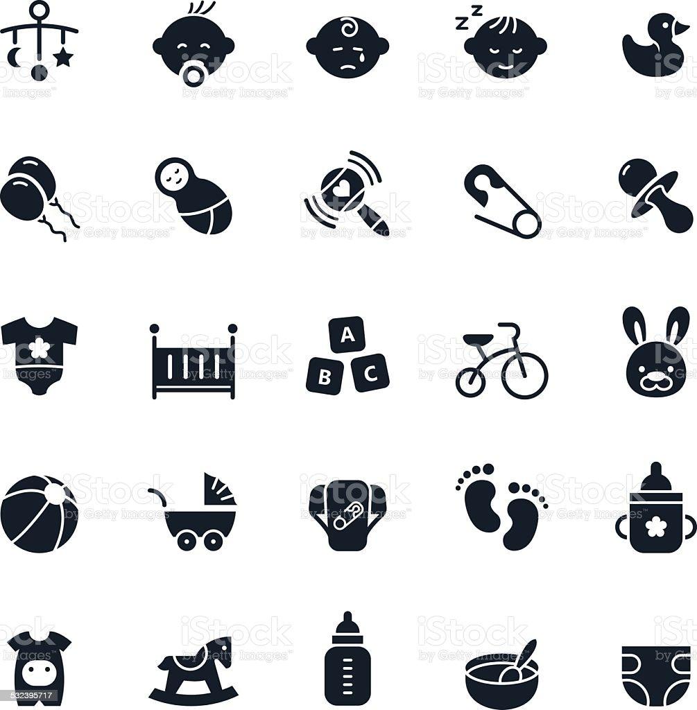 Baby Icon Set vector art illustration